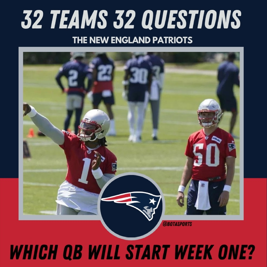 32 Teams 32 Questions: Who Will Start Week One for thePatriots
